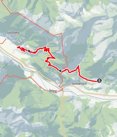 Karte / Kreuzeckhöhenwanderung 1. Tag