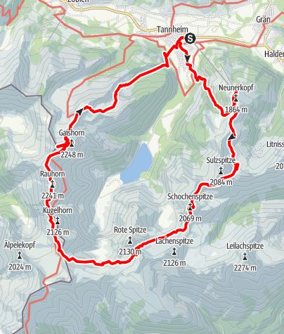 Karte / Tannheimer Berge