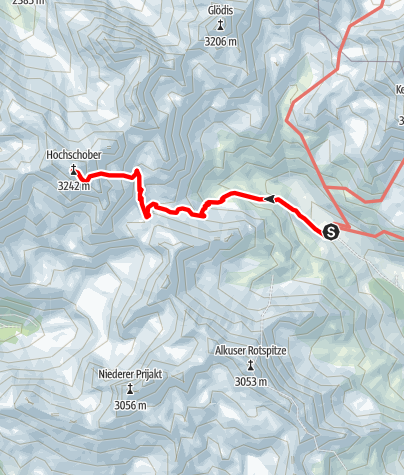 Karte / Schobergruppe: Lienzer Hütte - Hochschober