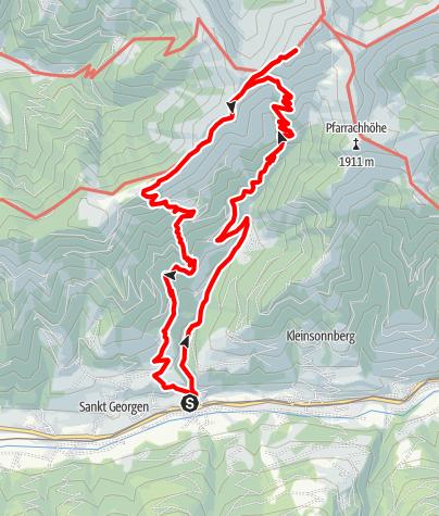 Karte / Gries-Brandenau-Tödlingalm-Hundstein-Moosalm-Gries