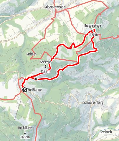 Map / Bödele - Brüggelekopf