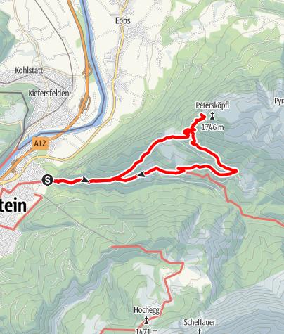Karte / Vorderkaiserfeldenhütte-Nauspitze