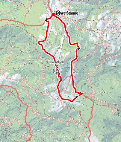 Map / Bödele - Lustenauer Hütte
