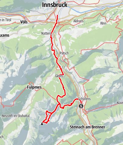 Karte / Kesselspitze (mit Bahn, Bike und Bergschuh)