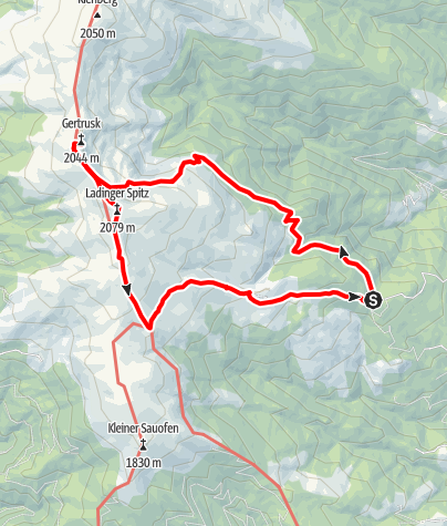 Karte / Rundtour Gießlhütte Gertrusk