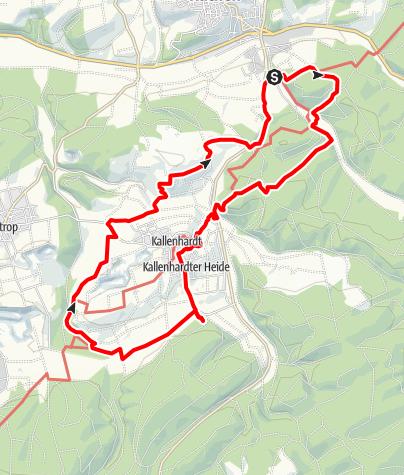 Karte / RWW 2012-03-01: Rüthen; vom Bibertal zum Hohlen Stein