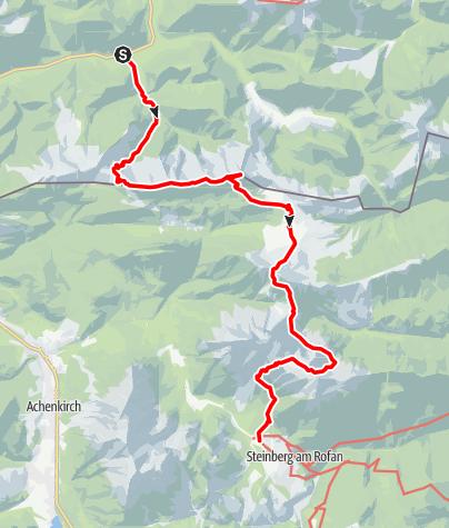 Mappa / von Wildbad Kreuth nach Steinberg (Austria)