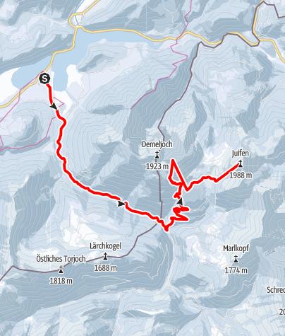 Karte / Zotenjoch & Juifen von Fall aus