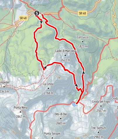 Karte / Lago di Sorapis