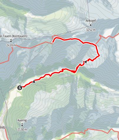 Karte / Hannoverhaus (2.566m) über Seebachtal