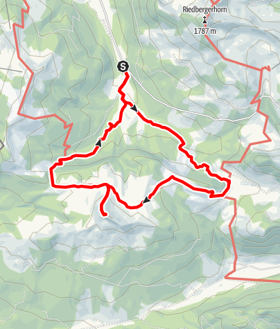 Karte / Bergtour - Piesenkopf