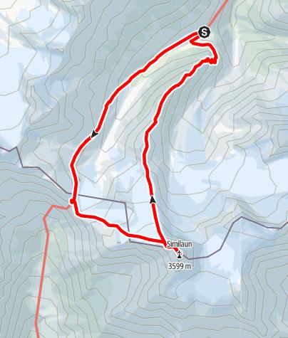 Karte / Similaun 3599 m. n m.