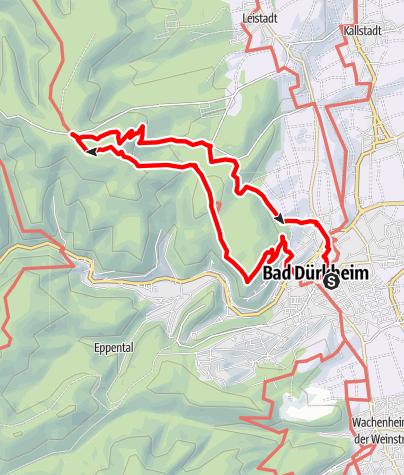 Karte / Bad Dürkheim - Goethe
