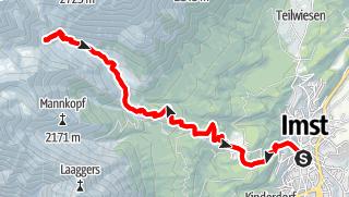 Karte / Imst - Muttekopfhütte retour