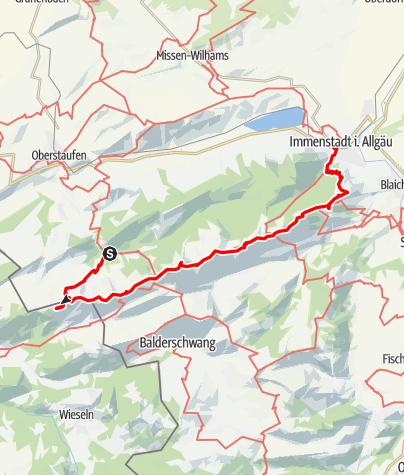 Karte / 2Tage Nagelfluhkette-von der Hochgratbahn-Talstation bis zum Bahnhof Immenstadt