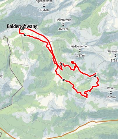 Karte / MTB - AlpTour Dinjörgen