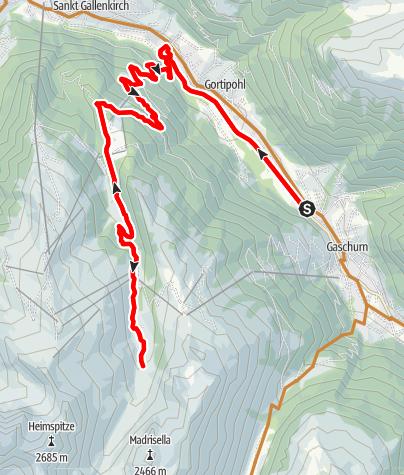 Karte / 20120607 Gaschurn - Alp Nova (retour)