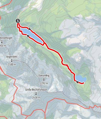 Karte / Rundwanderweg Gossauseeen