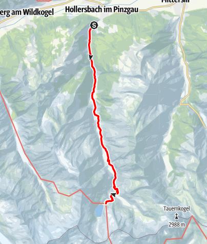Karte / Aufstieg Neue Fürther Hütte