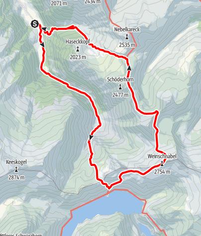 Karte / Weinschnabel - Rundtour am Ende des Großarltales