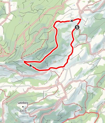 Karte / Von Steinkirchen zur Dandlberg-Alm (Rundweg 54)