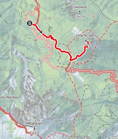 Karte / Ferlacher Spitze