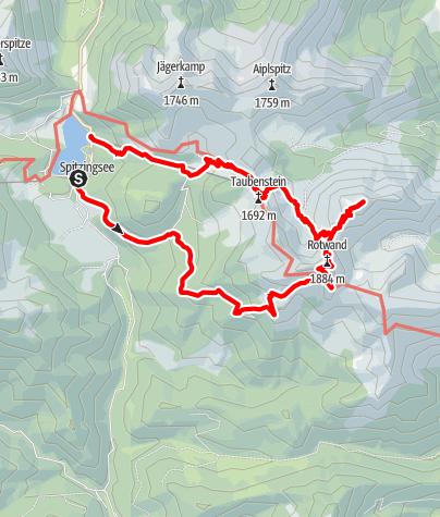 Karte / Spitzingsee - Rotwand - Hochmiesing - Taubenstein