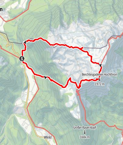 Map / Berchtesgadener Hochthron