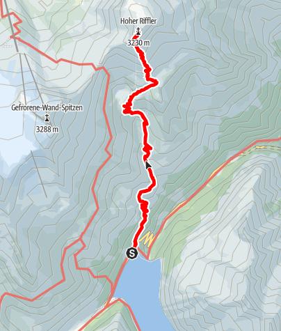 Karte / Hoher Riffler 3.231m