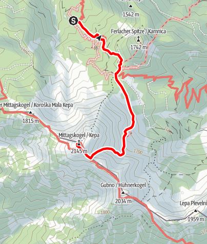 Karte / Mittagskogel