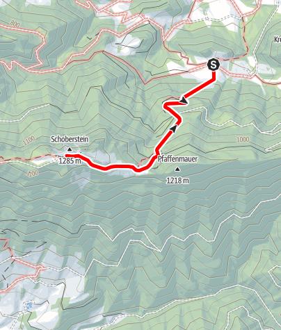 Karte / Schoberstein/ Schober Hütte