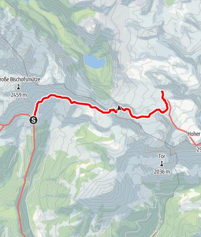 Karte / Hofpürgelhütte-Adamekhütte