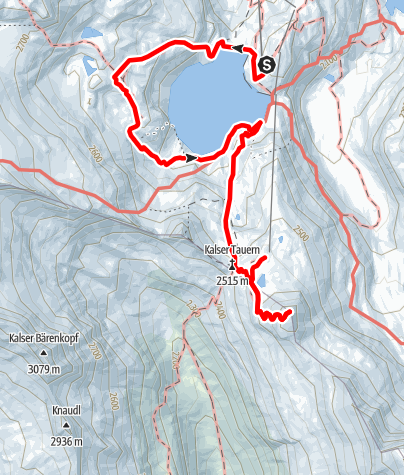 Karte / Weißsee - Kalser Tauern - Medelzkopf