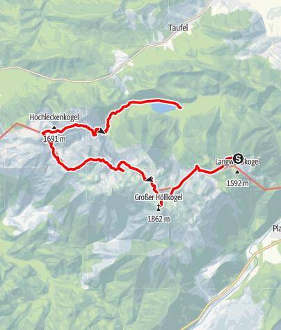 Karte / Feuerkogel-Langbathsee