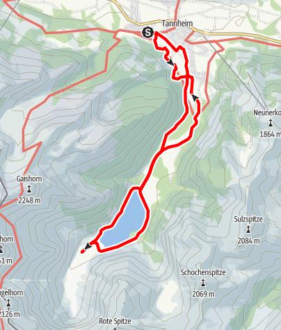 Mappa / Rund um den Vilsalpsee