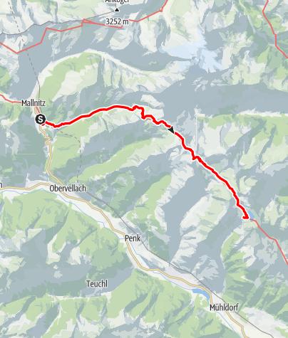 Karte / Reisseck Höhenweg - DRAFT