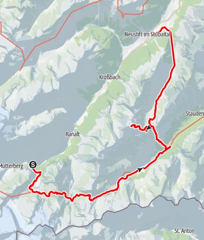 Map / Stubaier Alpen 15.09-19.09.2012