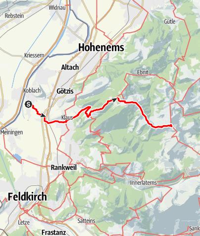 Karte / Hoher Freschen