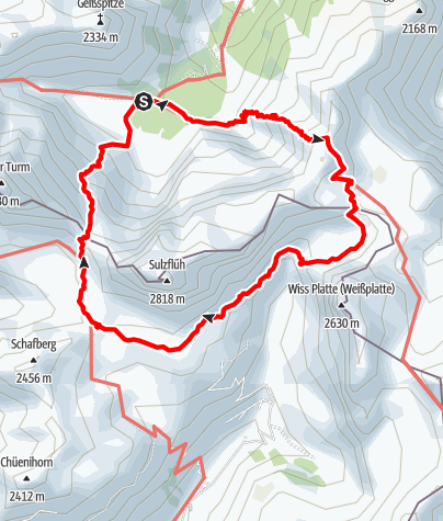 Karte / Rätikon 3-Hütten-Tour: um die Sulzfluh