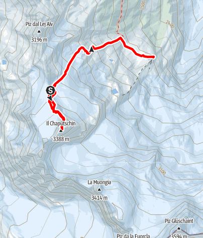 Karte / Il Chapütschin Nordgrat