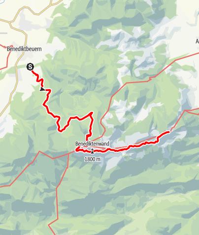 Karte / Überschreitung Benediktenwand (Benediktbeuern, Brauneck, Lenggries)