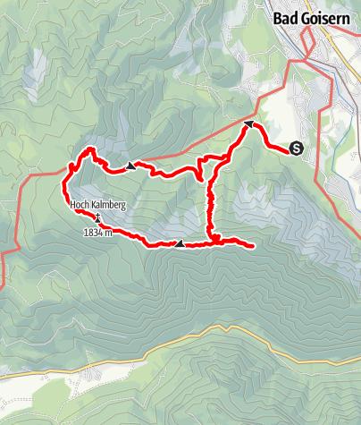 Karte / Zwölfergkogel - Brenntenkogel - Hoch-Klamberg - Goisererhütte