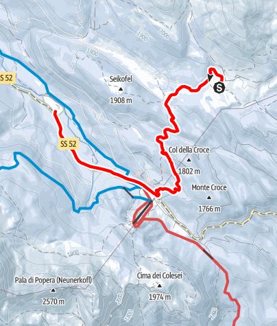 Karte / Winterwanderung zur Alpe Nemes