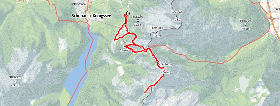 Karte / Jenner - Schneibstein