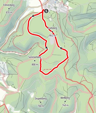 Karte / Masserberg - Werraquelle - Route 1