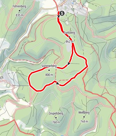 Karte / Masserberg - Werraquelle - Route 2