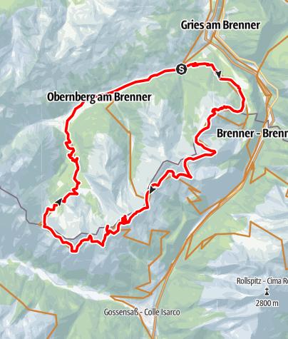 Karte / Brennergrenzkammrunde