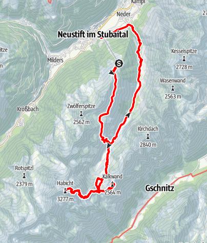 Map / Von Neustift zum Habicht