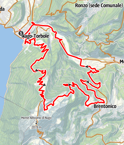 Karte / Von Torbole zum Monte Altissimo