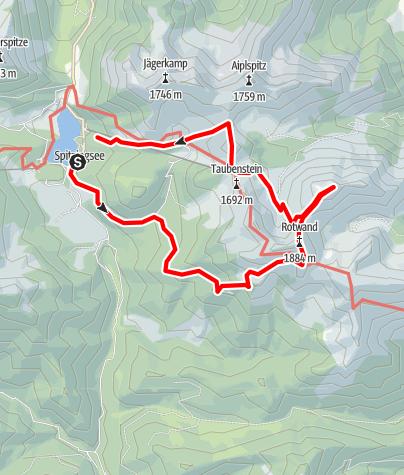 Karte / Vom Spitzingsee zur Rotwand und zum Taubenstein